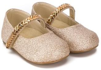 Babywalker Bead-Embellished Ballerina Shoes
