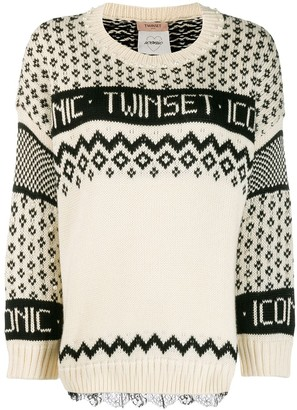 Twin-Set logo knit jumper