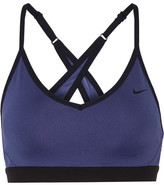 Nike Pro Indy Stretch-jersey Sports Bra - Blue