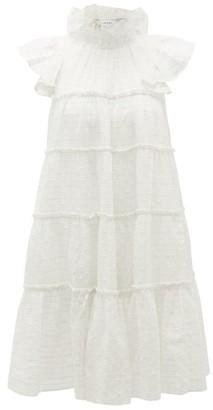 Rhode Resort Tiffany Ruffled Cotton-blend Mini Dress - White