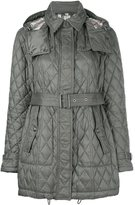 Burberry quilted padded trench coat