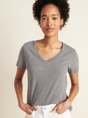 Old Navy EveryWear Slub-Knit V-Neck Tee for Women