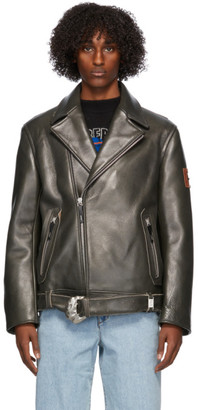 Ader Error Black Leather Normen Jacket
