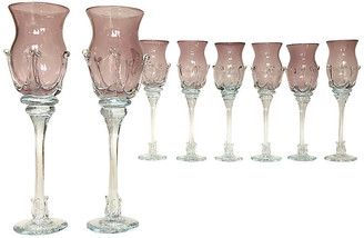 One Kings Lane Vintage Handblown Stemware by Robert Deeble - Set of 8 - Eat Drink Home