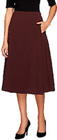 George Simonton A-Line Skirt with Elastic Waist and Seam Detail