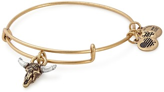 Alex and Ani Spirited Skull Charm Expandable Wire Bracelet