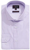 1670 Circle Print Stretch Slim-Fit Dress Shirt