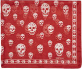 Alexander McQueen Red and White Skull Scarf