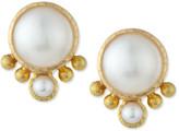 Elizabeth Locke Mabe Pearl Stud Earrings