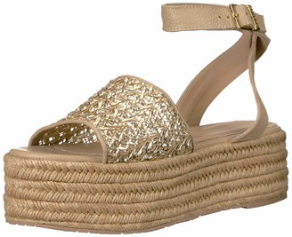 Kaanas Women's Tangier Espadrille PLATOFRM Wedge Opentoe Ankle Strap Sandal Shoe Heeled