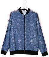 MSGM TEEN layered bomber jacket