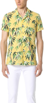 Scotch & Soda Short Sleeve Cotton Slub Shirt