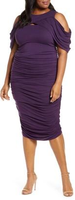 Kiyonna Bianca Ruched Body-Con Dress