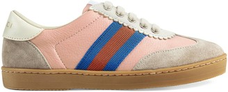 Gucci Children's G74 leather sneaker with Web