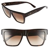 MCM Women's 55Mm Studded Navigator Sunglasses - Burgundy