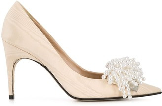 Sergio Rossi x Rosie Assoulin pearl embellished toe pumps