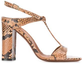 L'Autre Chose snakeskin effect T-bar sandals