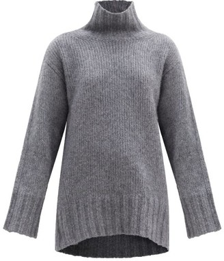 Petar Petrov Kip Roll-neck Oversized Cashmere-blend Sweater - Grey