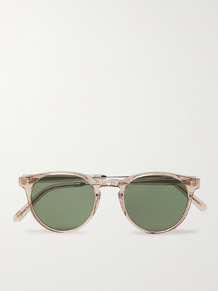 MOSCOT Golda Sun Round-Frame Acetate and Silver-Tone Sunglasses - Men - Pink
