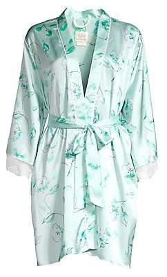 Kate Spade Women's Bridal Floral Lace Trim Robe