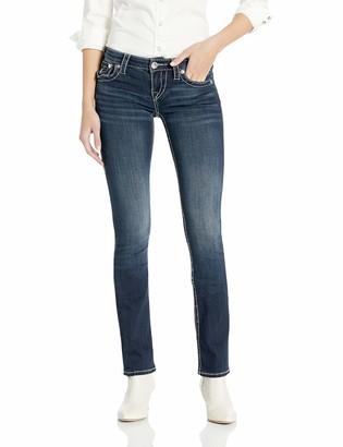 True Religion Women's Billie Straight Jean with Flap