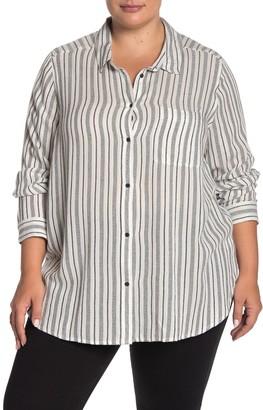 Lucky Brand Stripe Print Top (Plus Size)