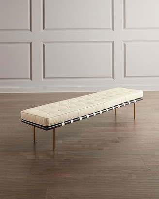 REGINA ANDREW Tufted Leather Gallery Bench