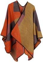 Idowela Women's Shawls yellow - Yellow & Orange Color-Block Shawl