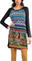 Desigual Women's Lightweight Long Sleeve Dress with Straight Fit
