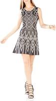 BCBGMAXAZRIA Debbie Geometric Jacquard Dress
