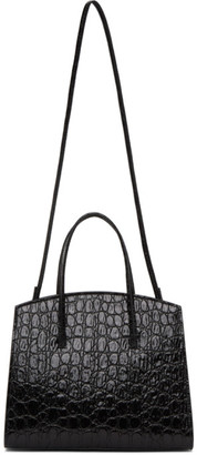 Little Liffner Black Croc Mini Minimal Bag