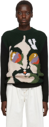 Stella McCartney Green and Black The Beatles Edition Virgin Wool John Lennon Sweater
