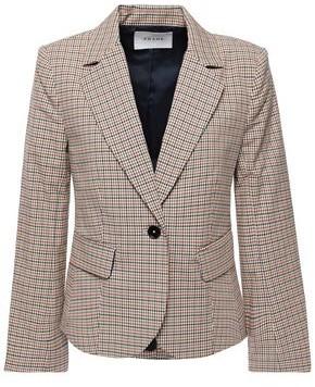 Frame Checked Cotton-blend Blazer