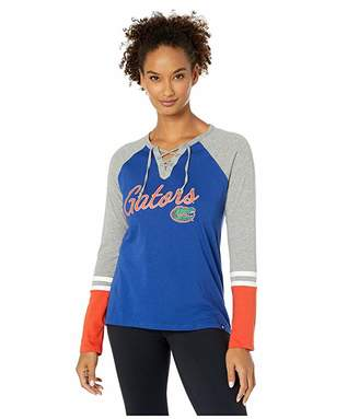 '47 College Florida Gators Fast Break Lace-Up Long Sleeve Tee