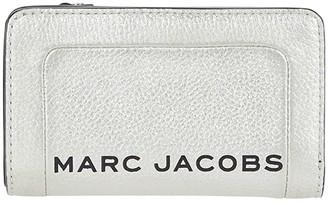 Marc Jacobs The Metallic Textured Compact Wallet (Platinum) Wallet Handbags
