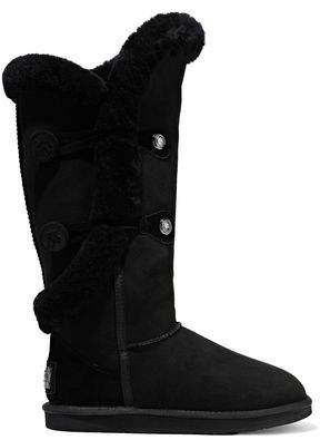 Australia Luxe Collective Nordic Shearling-trimmed Suede Snow Boots