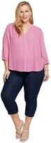 NYDJ Plus Size Plus Size Plus Size Pintuck Blouse (Miami Geo) Women's Blouse