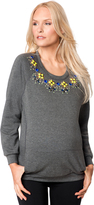 A Pea in the Pod Necklace Trim Maternity Sweatshirt
