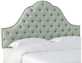 One Kings Lane Alina Tufted Headboard - Mint - upholstery, mint; nailheads, pewter