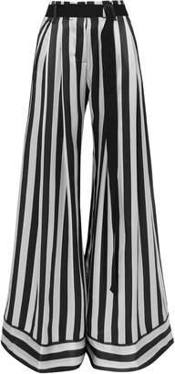 Ann Demeulemeester Striped Silk-satin Pants