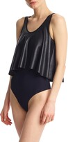 Commando Faux Leather Loose Layered Thong Bodysuit