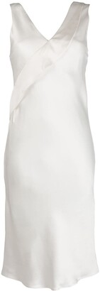 Helmut Lang V-Neck Fitted Dress