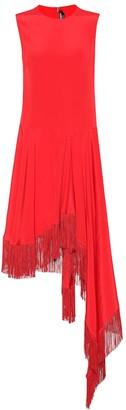 Calvin Klein Asymmetric silk satin dress