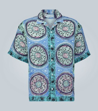 J.W.Anderson Printed short-sleeved linen shirt