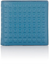 Balenciaga Men's Grid-Embossed Wallet-BLUE