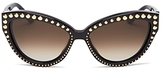 Moschino Studded Cat Eye Sunglasses, 56mm