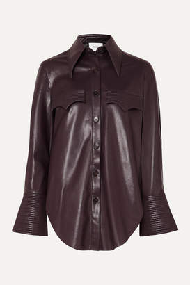Nanushka Elpi Vegan Leather Shirt - Merlot
