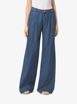 Michael Kors Chambray Wide-Leg Pants