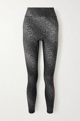 All Access Audio Printed Stretch Leggings - Gray