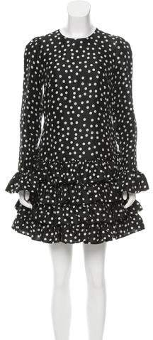 Dolce & Gabbana 2017 Silk Polka Dot Dress